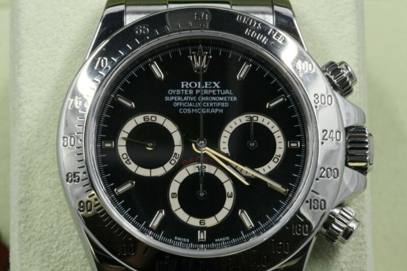 Rolex Daytona 16520 Black Index Dial End Of Production 1999 Model