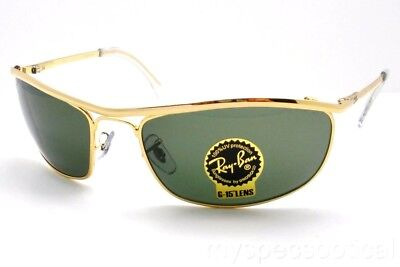 Ray Ban 3119 Olypian G15 New Authentic 001 Gold (G15 Sunglasses)