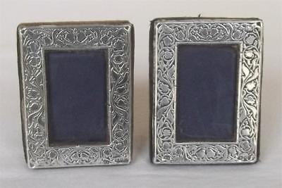 AN EXQUISITE PAIR X 2 STERLING SILVER PHOTO FRAMES LONDON 1990.