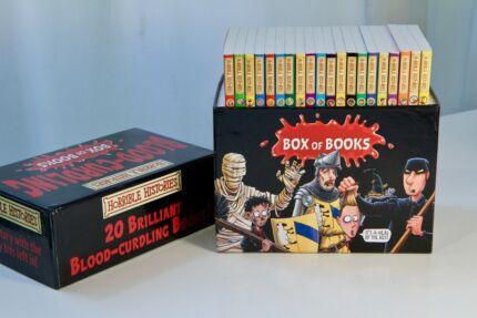 Horrible Histories 20 Brilliant Blood-Curling Books ! Box set $60