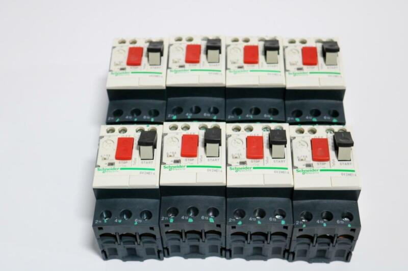 Lot of 8 Schneider Electric GV2ME14 6-10A, 220-440Vac, Motor Circuit Breakers