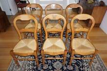 6 SOLID WOOD / WICKER DINING CHAIRS North Narrabeen Pittwater Area Preview