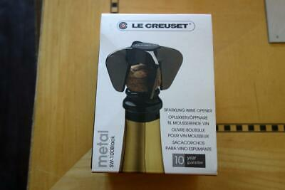 Le Creuset Wine Accessories Sparkling Wine Opener, Black Nickel ~ New/Boxed