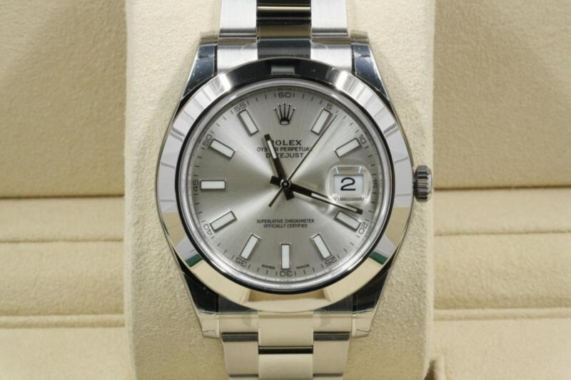 Rolex Datejust Ii Model 116300 Silver Index Dial