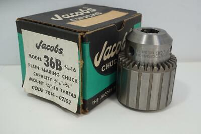 New Original Usa Made Jacobs 34 Plain Bearing Drill Chuck 34-16 Mount 36b34