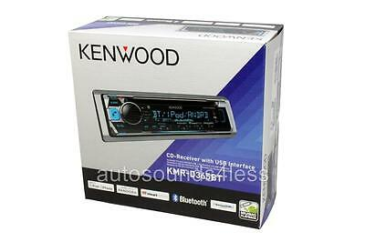Kenwood KMR-D365BT Marine CD/MP3/WMA Player Bluetooth SiriusXM Radio Ready New