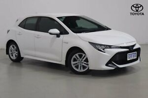 2019 Toyota Corolla ZWE211R Ascent Sport E-CVT Hybrid White 10 Speed Constant Variable Hatchback Northbridge Perth City Area Preview