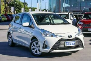 2019 Toyota Yaris NCP130R Ascent White 4 Speed Automatic Hatchback