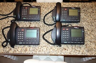 Lot of 7  Avaya Nortel M3903 Business Display Phones NTMN33GA70 W//STAND @@@