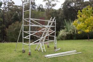 Aluminium Mobile Tower 0.7 (W), 2.5 (L) 3.5 (H) Lakesland Wollondilly Area Preview