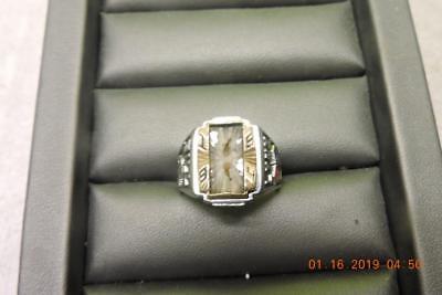 Vintage Abraham Lincoln Lynx H.S High School Men's Class Ring Jostens ArtCarved