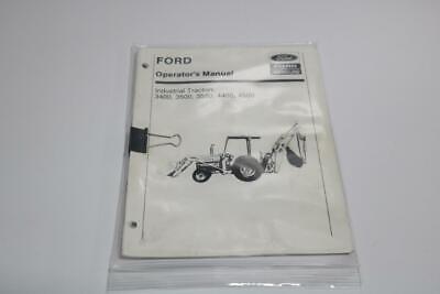 Ford Operators Manual Industrial Tractors 3400 3500 3550 4400 4500