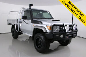 2016 Toyota Landcruiser VDJ79R MY12 Update GXL (4x4) Silver 5 Speed Manual Cab Chassis