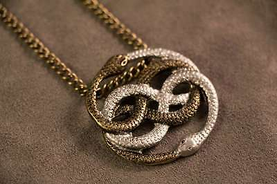 Auryn Necklace Pendant Gold & Silver (Inspired by The Neverending Story)