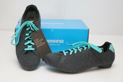 New Shimano Women's RT4 MTB Bike Shoes 40 7.8 Gray Mint SPD