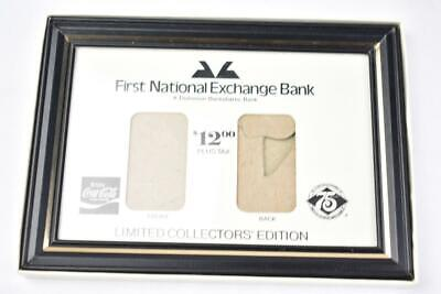 Vintage Coca-Cola First National Bank Frame 75 years for Silver Ingots