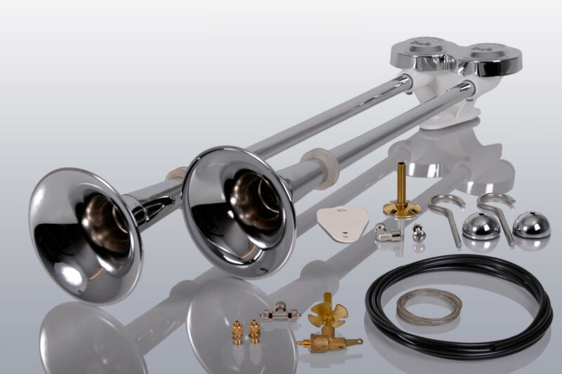 Lkw Druckluft-Doppelhorn 54//64cm Hupe Signalhorn Mercedes Benz Yatego Actros