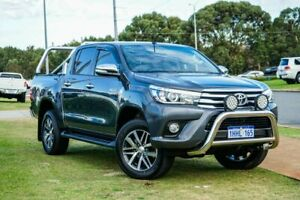 2017 Toyota Hilux GUN126R SR5 Double Cab Grey 6 Speed Sports Automatic Utility Wangara Wanneroo Area Preview