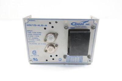Condor Hn15-4.5-a Power Supply 100120220230240v-ac 4.5a Amp 15v-dc