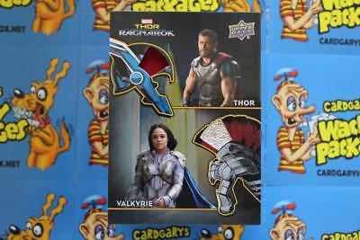 2018 UD MARVEL THOR MEMORABILIA COSTUME CARD AD-3 Thor/Valkyrie - Cape-Leather :
