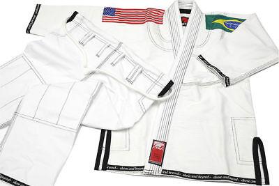 BJJ Gi Brazilian Jiu-jitsu Gi New GTMA Platinum BJJ Uniform-WHITE size A1