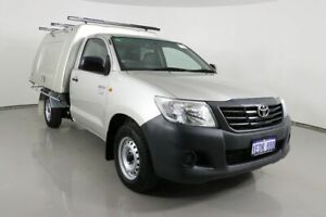 2012 Toyota Hilux TGN16R MY12 Workmate Silver 5 Speed Manual Cab Chassis