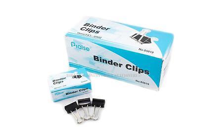 60 Pcs 19mm 34 Metal Binder Clips Paper File Organizer Sorter For Office 5 Doz