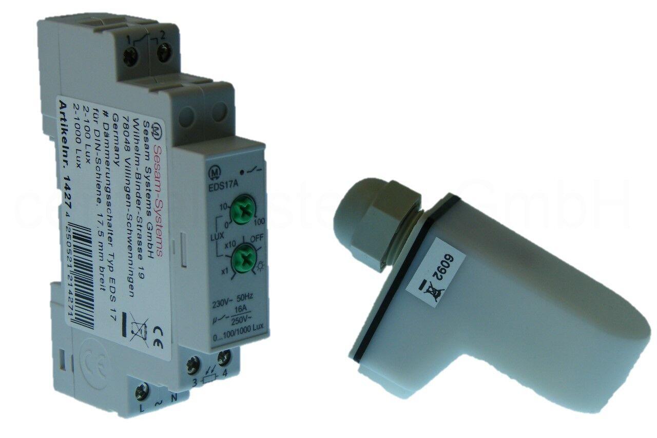 Dämmerungsschalter + Außensensor Hutschiene Dämmerungssensor EDS 17A