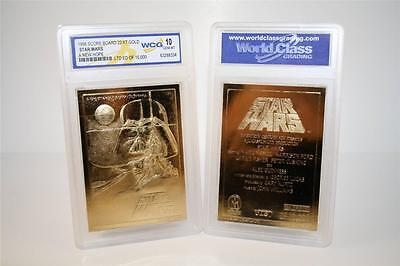 Star Wars A NEW HOPE Original Movie Poster 23KT Gold Card Graded GEM MINT 10
