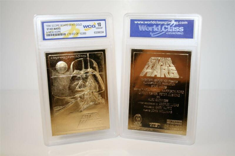 Star Wars A NEW HOPE Original Movie Poster 23KT Gold Card Graded GEM MINT 10