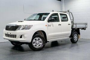 2013 Toyota Hilux KUN26R MY12 SR (4x4) White 4 Speed Automatic Dual Cab Pick-up Woodridge Logan Area Preview