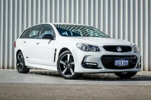 2016 Holden Commodore VF II MY16 SV6 Sportwagon Black White 6 Speed Sports Automatic Wagon Canning Vale Canning Area Preview