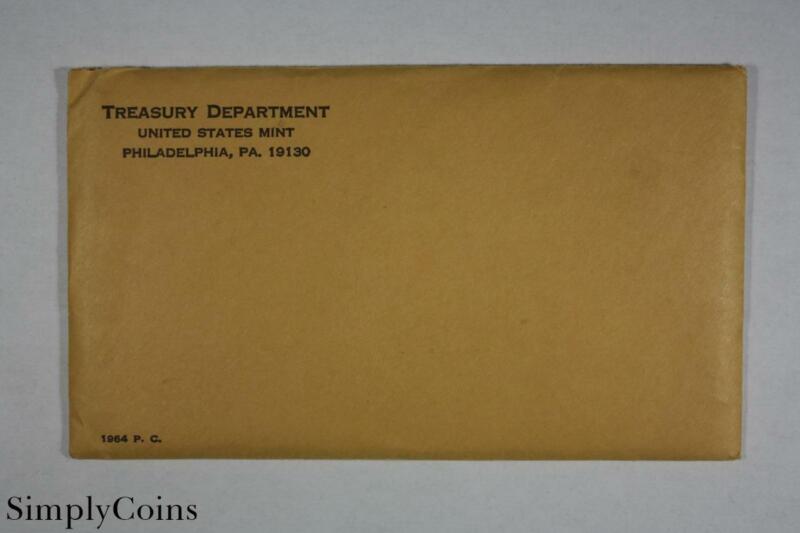 1964 Accented Hair Kennedy Silver US Proof Set ~ Original Envelope & COA ~ MQ