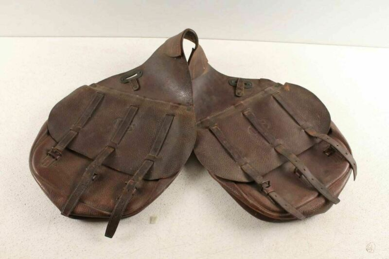 Antique World War 1 One Leather US Saddlebags
