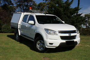 2013 Holden Colorado RG MY13 LX Crew Cab Abalone White 6 Speed Sports Automatic Cab Chassis