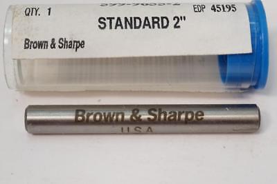 New Brown Sharpe Usa 2 Micrometer Caliper Calibration Standard 599-9655-2