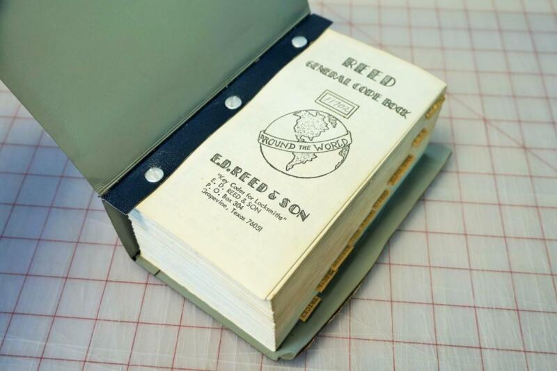 Reed Padlock General Code Book - By E.D. Reed & Son - Key Codes for locksmiths