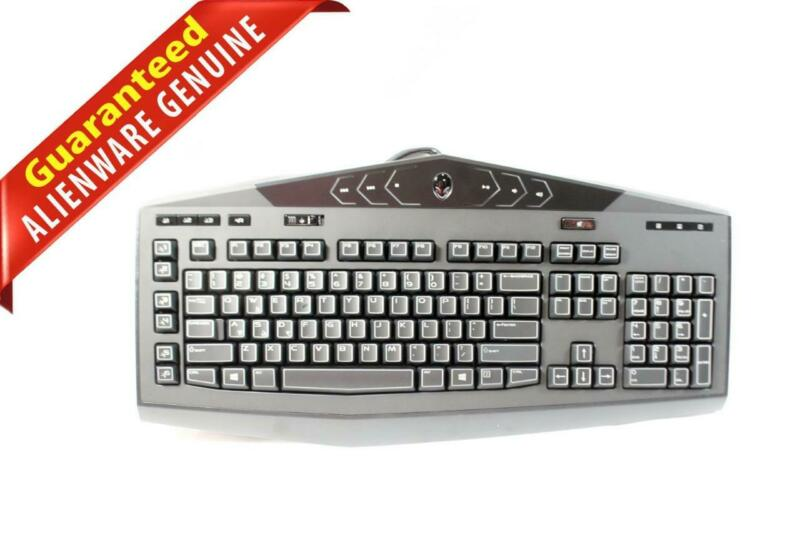 Dell Alienware TactX Illuminated Multimedia Gaming USB Keyboard KG900 VR4FN