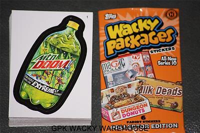 2013 WACKY PACKAGES SERIES 10 COMPLETE SET 55 STICKER CARDS + WRAPPER