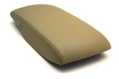 Fits 07-11 Toyota Camry Synthetic Leather Armrest Center Console Cover Beige Beige Cam Cover