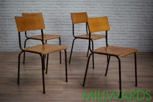 Vintage Industrial Stacking School Cafe Bar Chairs (inc VAT) 70 AVAILABLE