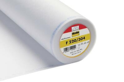 Vlieseline Fusible Interfacing - F220/304 - Iron on Standard - White
