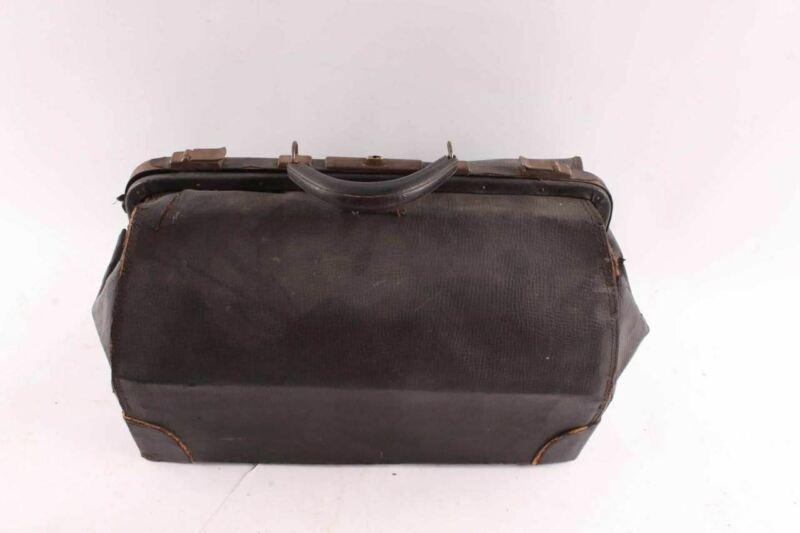 Rustic Antique Samson Luggage Leather Doctors Bag