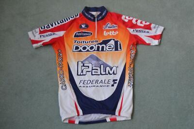 RETRO VERMARC LOTTO RADIO CONTACT TOITURES DOOME CYCLING JERSEY UK XS - 1 - 44