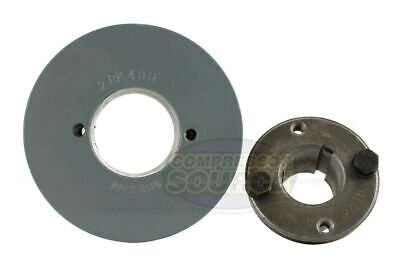 Cast Iron 4 2 Groove Dual Belt B Section 5l Pulley W 1-18 Sheave Bushing