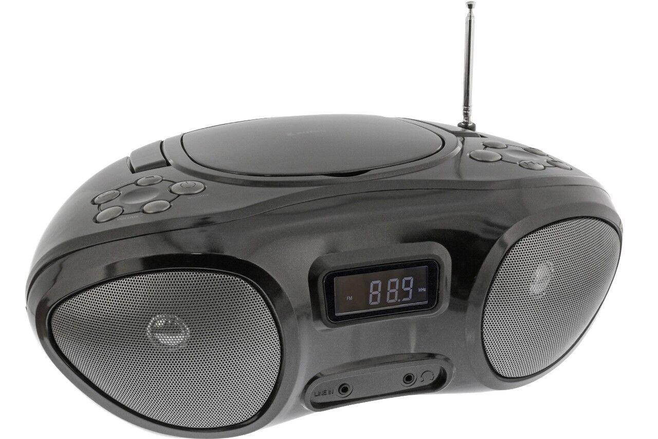 Tragbares Kofferradio mit CD Player - Mini Radio Stereoanlage MP3 AUX Boombox