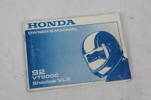 Honda Shadow 600 Owners Manual Ebay