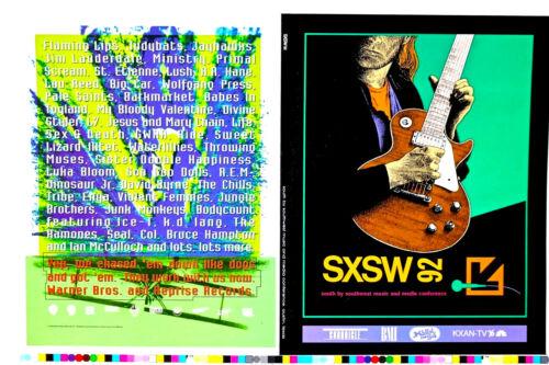 ONE OF A KIND -SXSW1992 MUSIC & MEDIA FESTIVAL -PRINTERS PROOF 2 SIDED Original