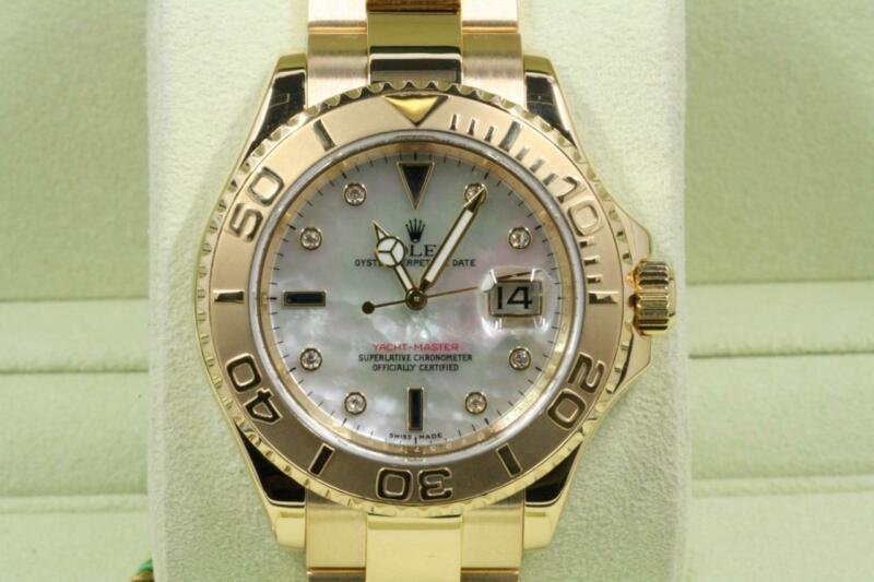 Rolex Yacht-master 16628 Mother Of Pearl Diamond Dial 2006 Model