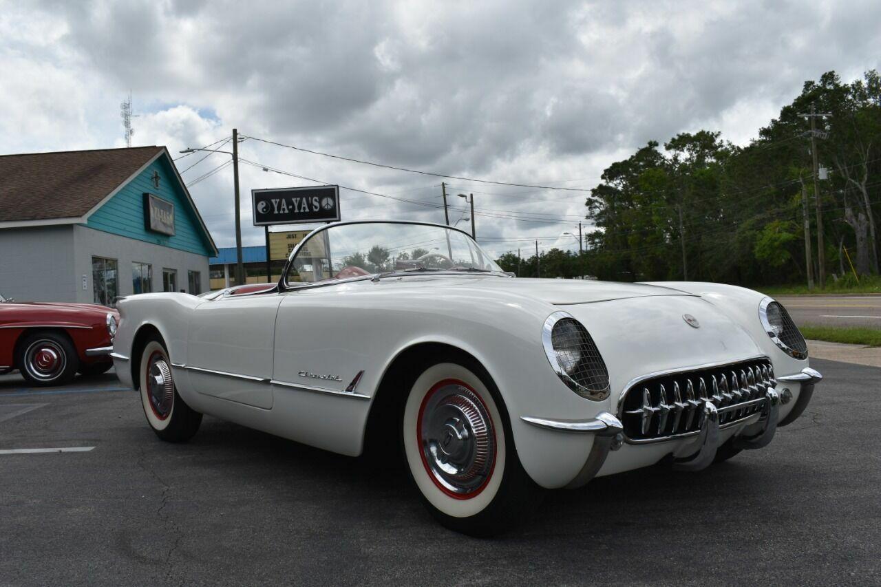 1954 White Chevrolet Corvette   | C1 Corvette Photo 8